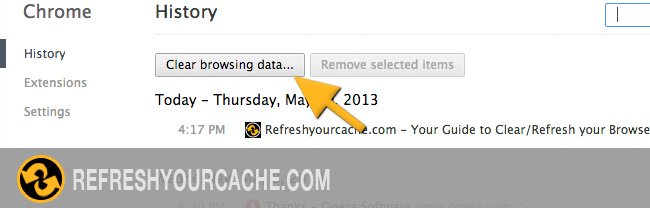 Refresh the cache in Chrome 27 on Mac & PC