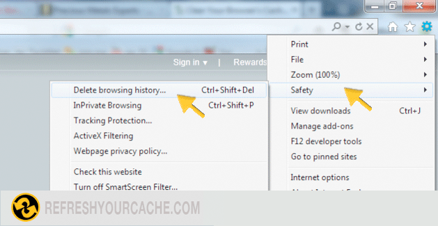 Refresh Your Cache For Internet Explorer 9